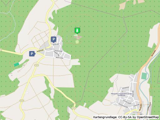 Lageplan der Burg Aremberg