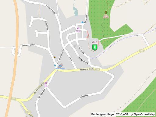 Lageplan Burg Kerpen