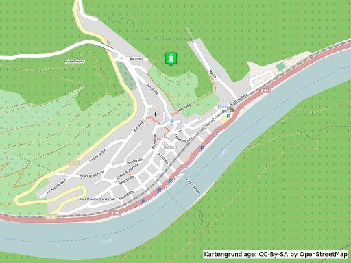 Lageplan der Burg Coraidelstein