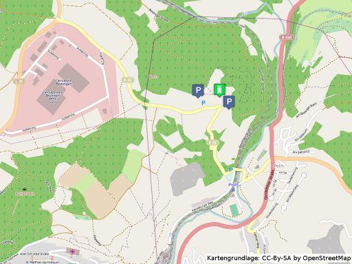 Lageplan der Kasselburg