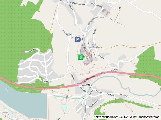 Lageplan der Burg Kronenburg