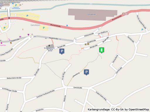 Lageplan der Löwenburg in Gerolstein