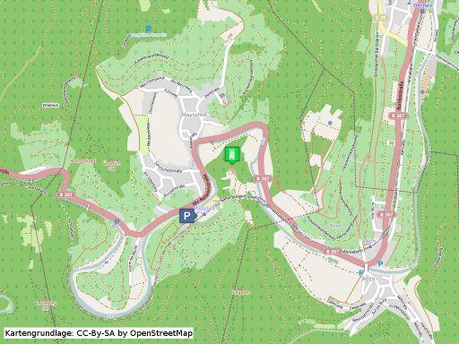 Lagekarte der Saffenburg