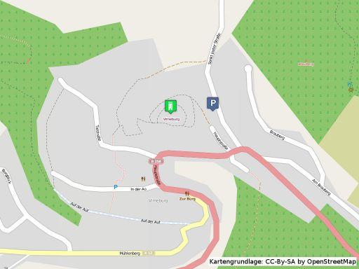 Lageplan der Virneburg