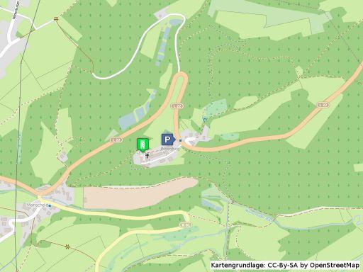 Lageplan der Burg Wildenburg